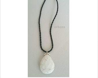 Howlite Pendant Necklace