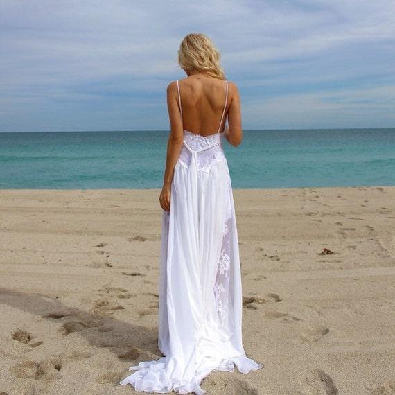 sexy beach wedding dress monica. Black Bedroom Furniture Sets. Home Design Ideas