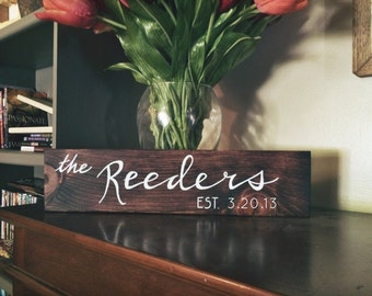 Custom Last Name Sign/ Wood Sign/ Family Sign/ Established Sign/ Customized Family Home Decor/ Wedding Gift/ Anniversary Gift/ Home Decor