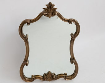 Hollywood Regency Gold Mirror /  Palm Beach / Bohemian
