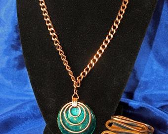 Renoir Bracelet and Copper Necklace