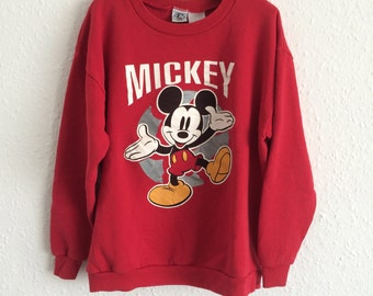 Vintage Kids Mickey Mouse Sweatshirt - Age 10 to 12 years