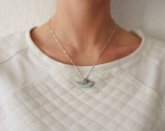 Concrete boat links necklace