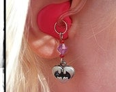 Hearing Aid Charms: Bat Girl charms with glass accent beads (matching bracelet sets also available in our Bracelets section)!!