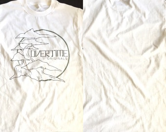 OverTime Originals white tshirt bonsai design