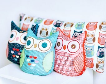 Owl Cushion, Owl Pillow, Owl Decor, Owl Gifts, Stuffed Animals, Stuffed Owl, Nursery Decor, Soft Toy, Kids Room Decor, Decorative Pillow