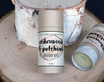 Cedarwood & Patchouli Deodorant - Organic Deodorant - All Natural Deodorant