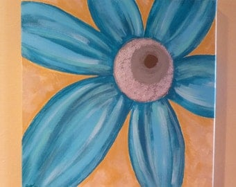 Turquoise Sparkle Flower