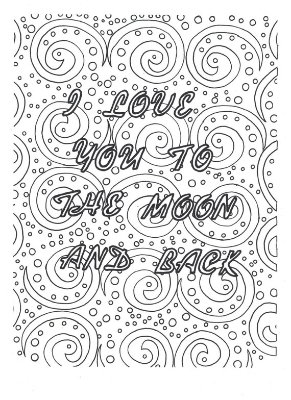 I Love You To The Moon And Back Coloring Page