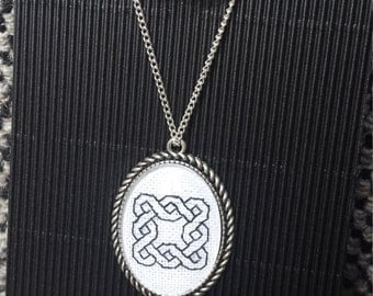 Cross Stitched Celtic Necklace