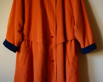 90s Orange and Purple Women's Light Jacket