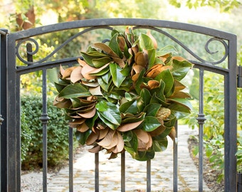 Golden Magnolia Wreath | Door Wreath | Magnolia Leaf Wreath | Fall Wreath | Wreaths for Fall | Autumn Wreath | Wreaths for Autumn | Gifts