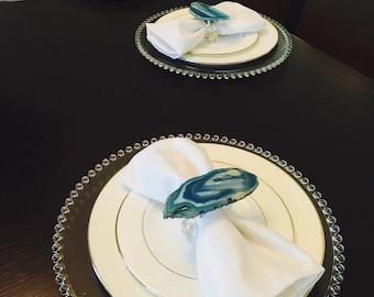 Agate Napkin Rings (set of 4)