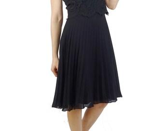 Black vintage with lace dress