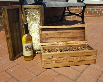 Rustic Style Wine Bottle Gift Boxes