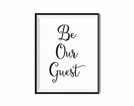 Challenger image pertaining to be our guest printable