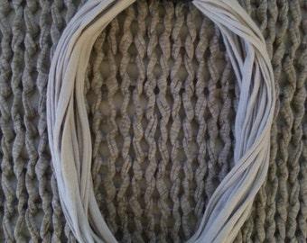Necklace - small - cotton - sand / black