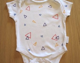 Hand Drawn Baby Onesie - Triangles