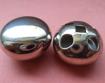 18 mm (5856) metal button buttons 9 metal buttons silver