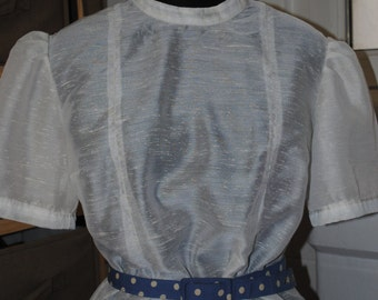 Blouse white year 1950