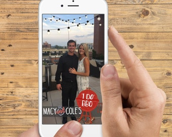 Snapchat Filter - I Do BBQ (Barbecue) - Custom Names - Perfect for an Engagement Party, Couples Shower, Etc. Decor - Sale Price!
