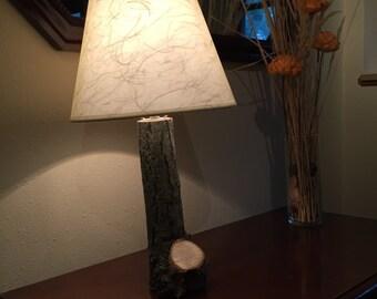 Rustic Walnut Lamp
