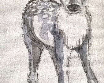 GREY FAWN painting
