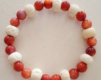 Blood and Bones Stretch Bracelet