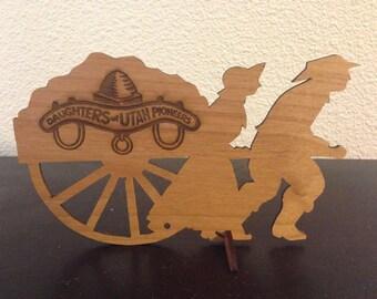 Handcart Pioneer Mantle Piece