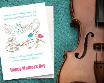 Happy Mother's Day card, song, birds, music