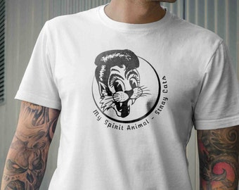 Stray Cats - My Spirit Animal Rockabilly Vintage Inspired Mens Tee Shirt,S M L XL 2XL 3XL