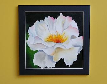 White flower (small- oil- original)