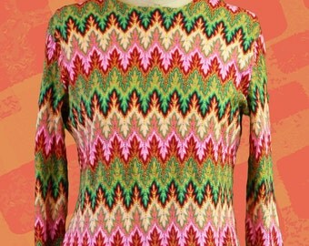 Vintage sweater colorfull psychedelic sweater 1970