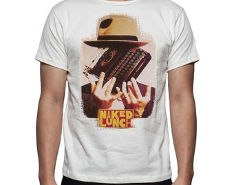 Naked Lunch burroughs hipster cinefile t shirt hand made in italy in 100% cotton with high quality print