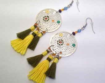 LENÇÓIS woven earrings