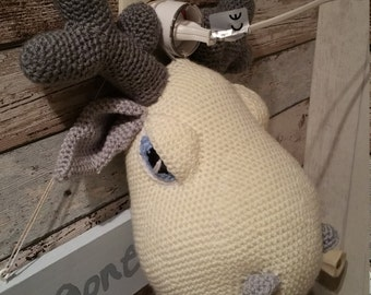 Delicious Dora - crocheted moose head