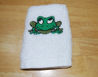 Frog Small Hand Towel
