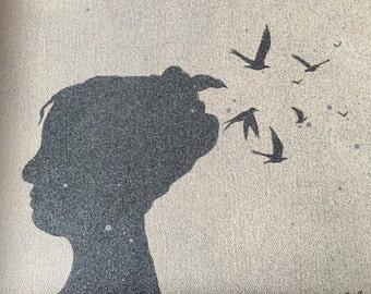 Silhouette Birds - Framed