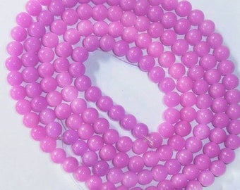90 Light Magenta Glass Beads
