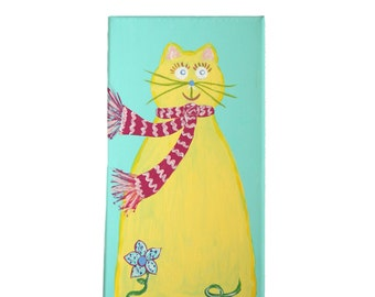 Blowing In The Wind- Cat Painting