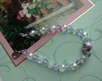 Adorable Glass and Ceramic Bead Bracelet