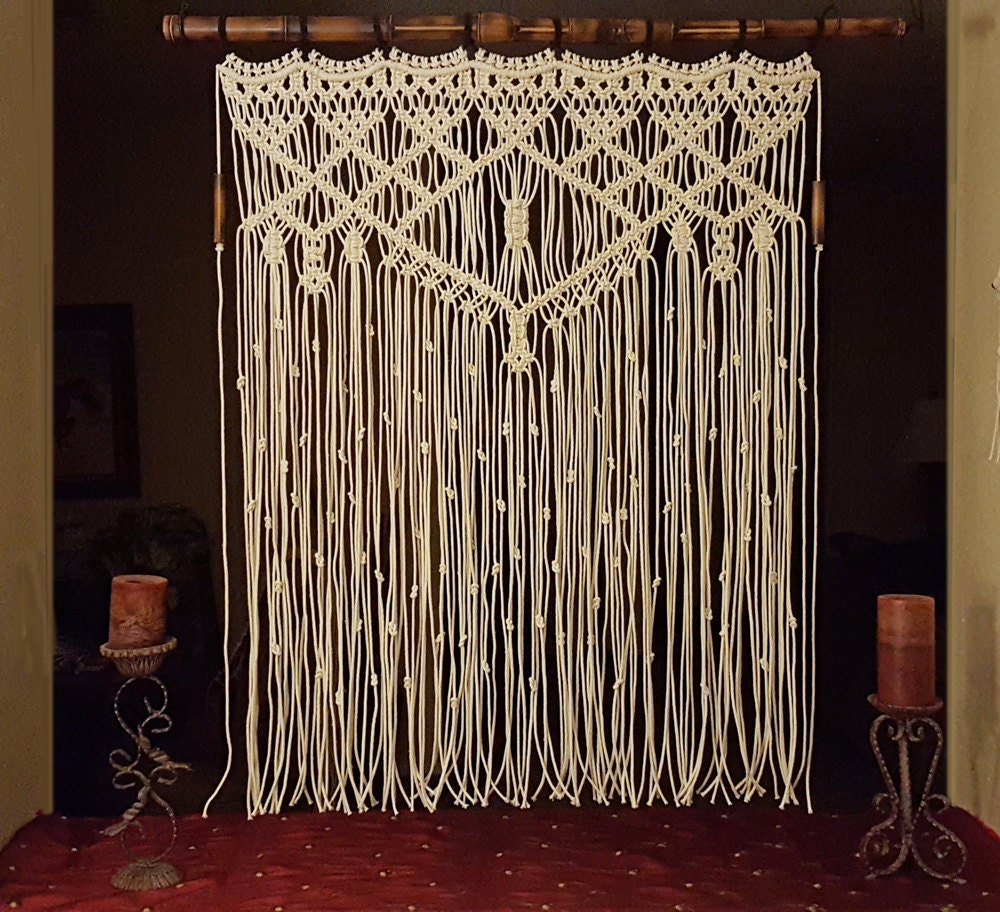 macrame large large macrame wall hanging bamboo window curtain by 3823
