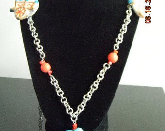 Caretto Siciliano Ceramic hand painted necklace