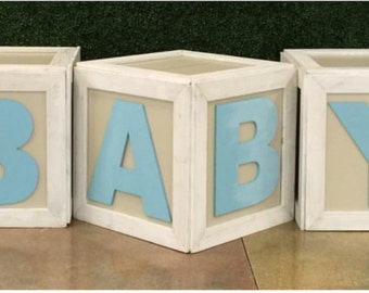 Baby block wooden letters