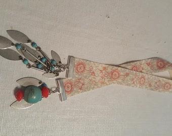 Bohemian Boho custom handmade bookmark