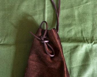 DrawString bag coin purse, money bag, medieval, larp