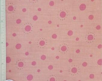 pink polka dot fabric etsy. Black Bedroom Furniture Sets. Home Design Ideas