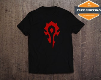 Horde Shirt,For The Horde Shirt,For The Horde T-Shirt,Horde Tee,WoW Shirt,WoW Tees,WoW T-Shirts,Gamer Tees,FREE Shipping