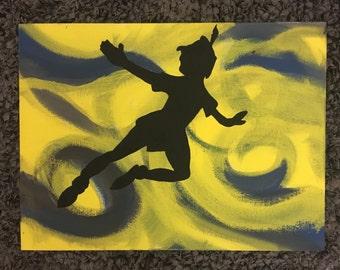 Peter Pan Painting Etsy