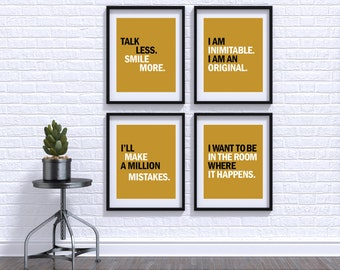Printable Hamilton Quote - Best of Aaron Burr - Four Pack - Instant Download - 8x10 - 11x14 - 16x20